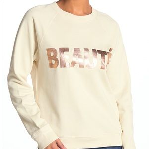 I crew NWT Cream Beauté Crew Neck Sweater